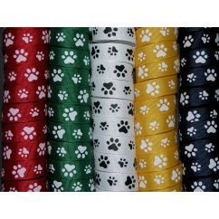 "5 yards 5/8"" Paw Print Grosgrain Ribbon"