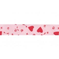 "7/8"" Valentine's Day Cupid Grosgrain Ribbon"