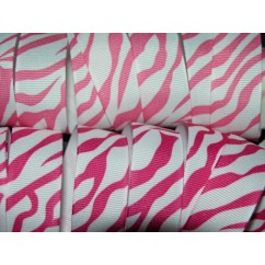 "5 yards 7/8"" Bold Zebra Print Grosgrain Ribbon"
