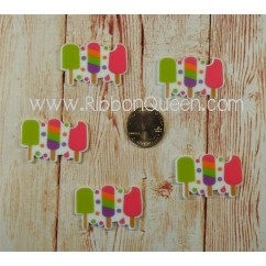 Popsicle Planar Resins to Match Popsicle Print Grosgrain Ribbon