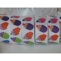 "5 yards 7/8"" Summer Popsicles Print Grosgrain Ribbon"