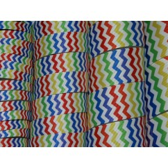5 yards Rainbow Chevron Stripe Grosgrain Ribbon