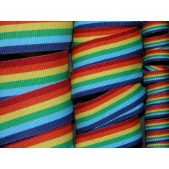 5 yards Rainbow Stripe Grosgrain Ribbon