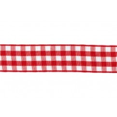 "5 yards 7/8"" Gingham Taffeta Ribbon"