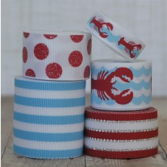 10 yards Red Lobster Ribbon Mix