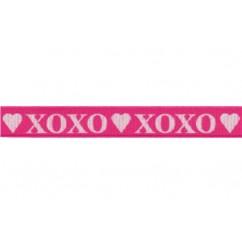 """3/8"""" Valentine's XOXO Love Print Grosgrain Ribbon"""