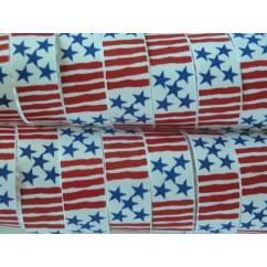 "5 yards 7/8"" Stars & Stripes Print Grosgrain Ribbon"