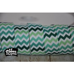 "5 yards 7/8"" St. Patrick's Day Chevron Stripe Grosgrain Ribbon"