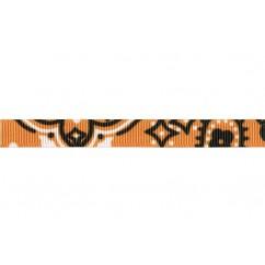 "3/8"" Tangerine Bandana Print Grosgrain Ribbon"