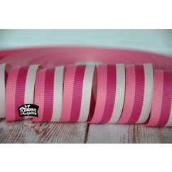 "5 yards 7/8"" Triple Pink Stripe Grosgrain Ribbon"