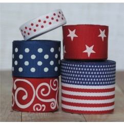 10 yards USA Ribbon Mix