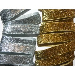 "One Yard 5/8"" Metallic Lurex Velvet Ribbon"