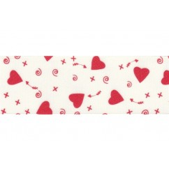 "1.5"" Valentine's Day Cupid Grosgrain Ribbon"