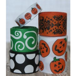10 yards White Pumpkin Ribbon Mix