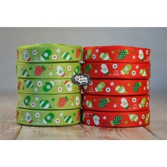 "5 yards 3/8"" Winter Mittens Print Grosgrain Ribbon"