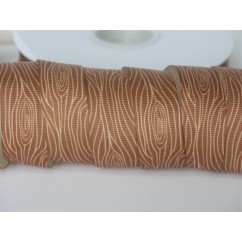 "7/8"" Wood Grain Print Grosgrain Ribbon"