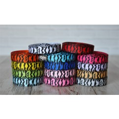"3 yards 3/8"" Zebra Print Grosgrain Ribbon"