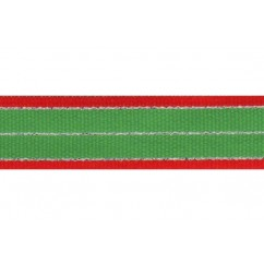 "5 yards 7/8"" Christmas Stripes Grosgrain Ribbon"
