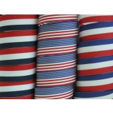 "5 yards 3/4"" American Patriotic Stripes Grosgrain Ribbon"