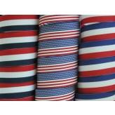 """5 yards 3/4"""" (6/8"""") American Patriotic Stripes Grosgrain Ribbon"""