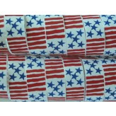 "5 yards 7/8"" Stars & Stripes Print Grosgrain Ribbon"